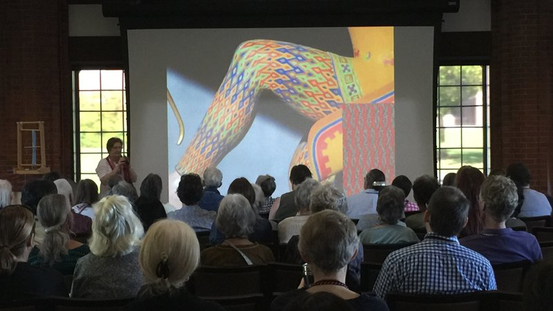 Carol James Sprang presentation. Photo Adrienne Gaskell