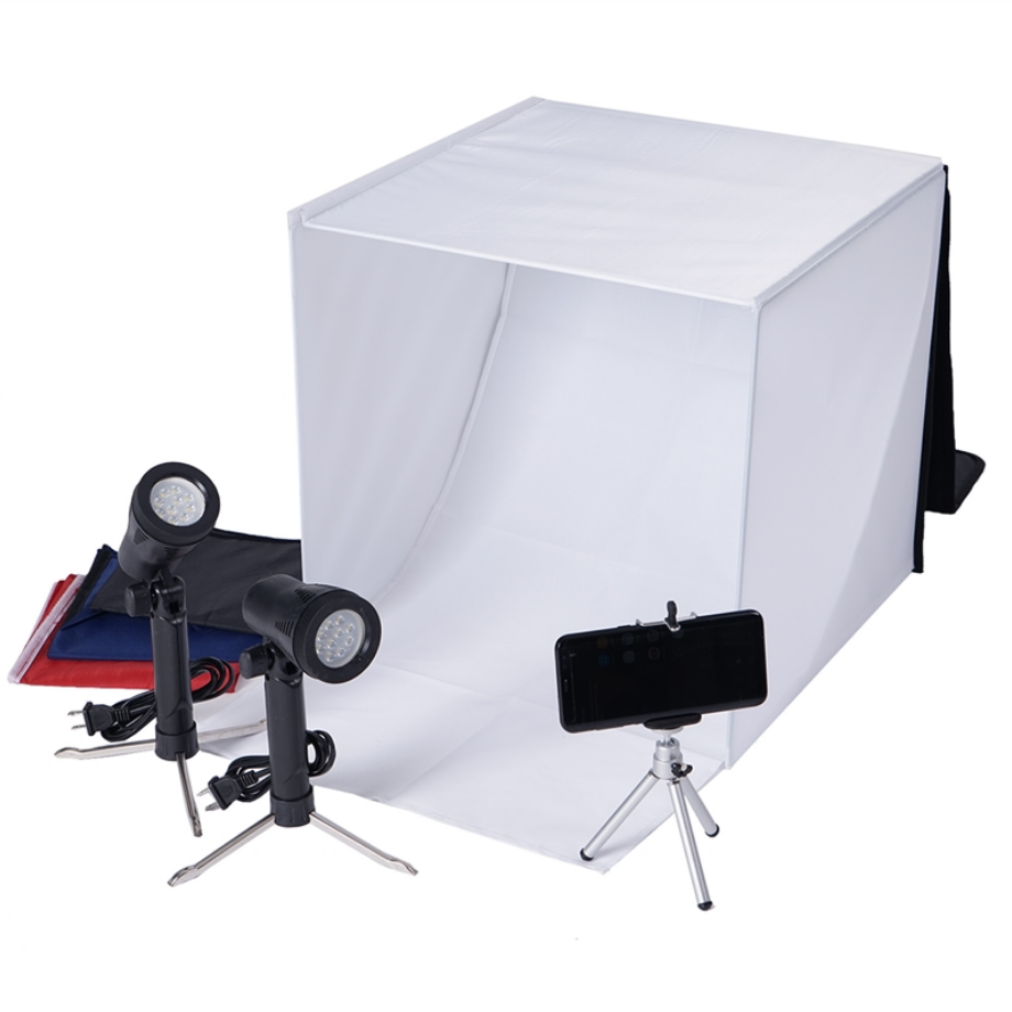 Lightbox set up for photos